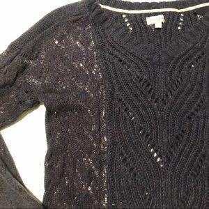 Maison Jules open knit sweater